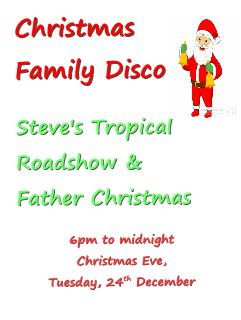 christmas eve family disco 24 December