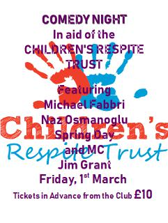 comedy night in aid of childrens respite trust