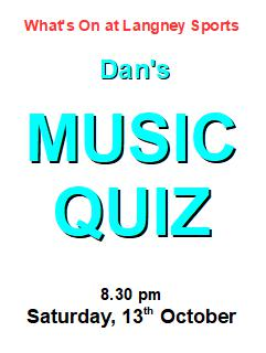 dans music quiz 13 October
