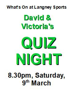 quiz night 9 March