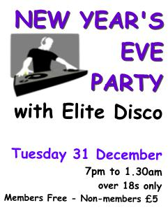 new years eve party 31 December